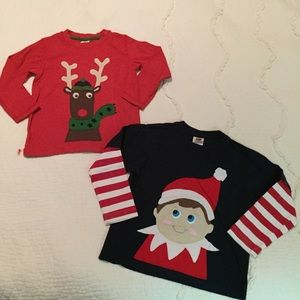 Frugi Custom Size 5/6 Elf Shelf Appliqué Shirts